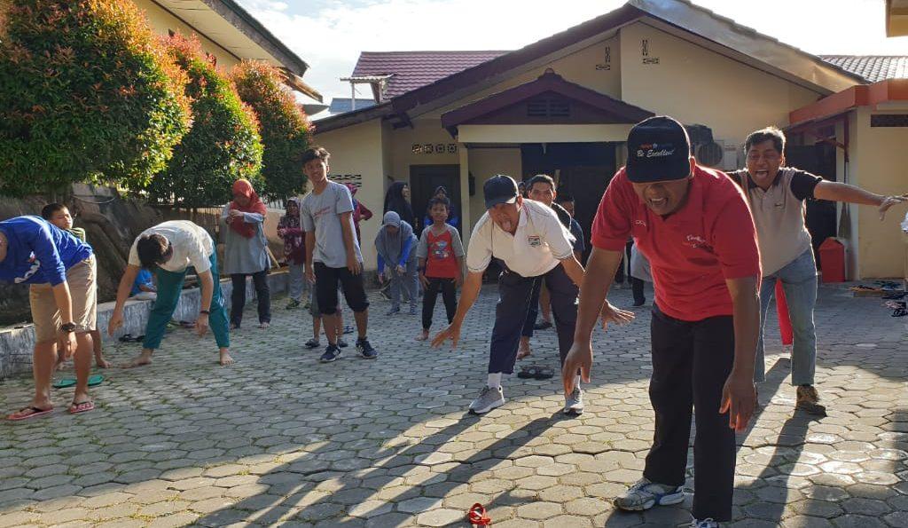 PAC LDII Belimbing Adakan Senam dan Jalan Sehat Bersama
