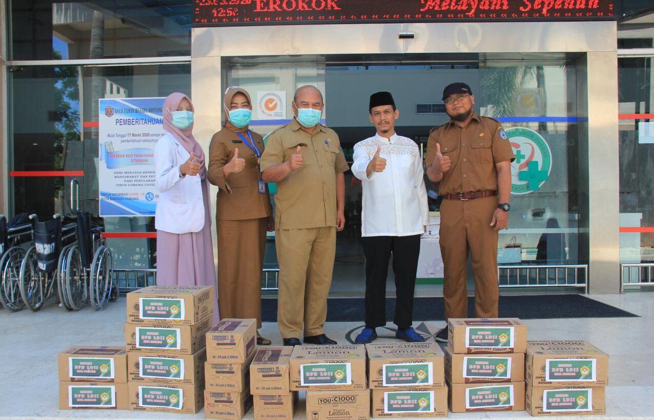 DPD LDII Bontang Serahkan Bantuan Untuk Tenaga Medis RSUD Bontang
