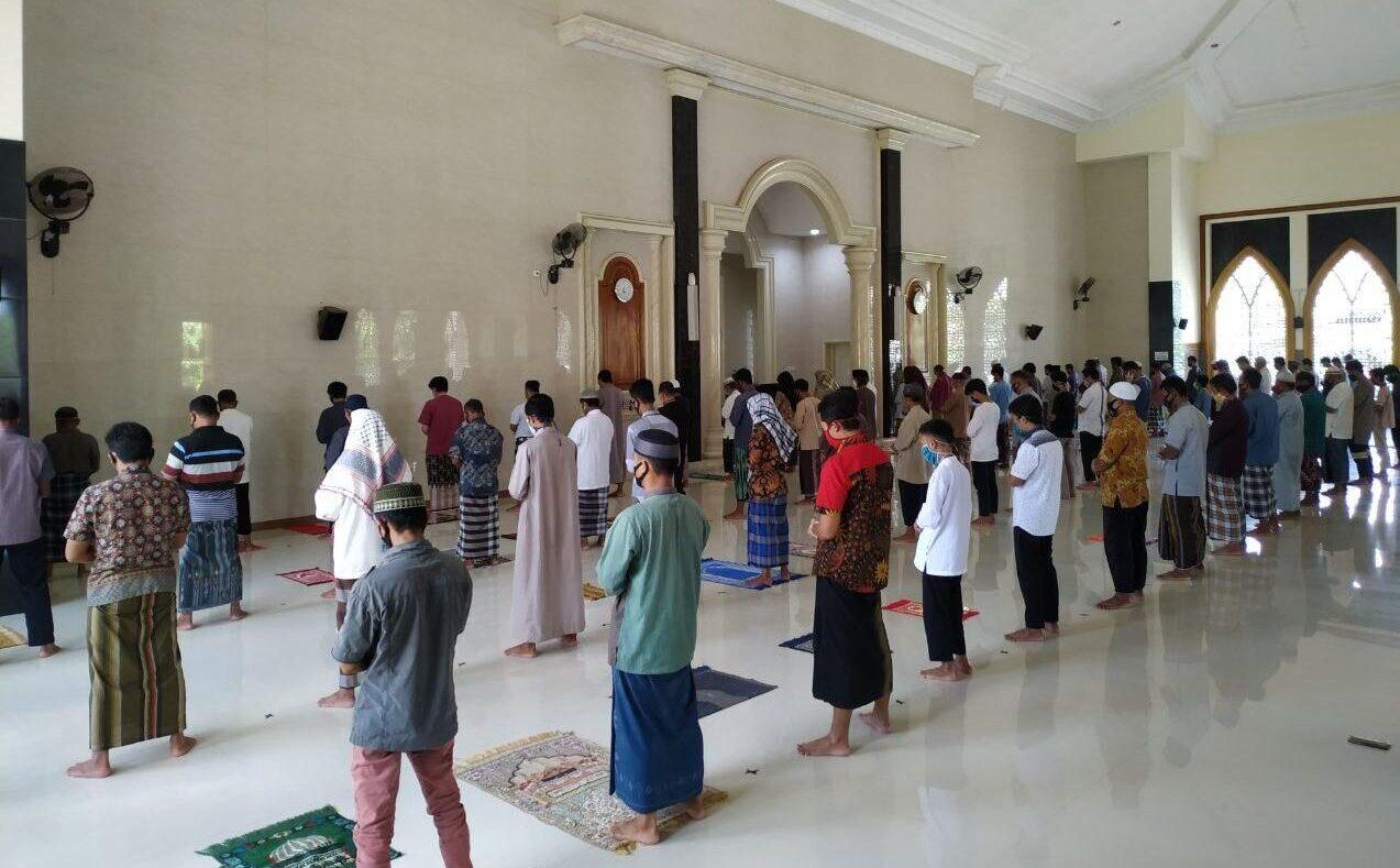 Ibadah Shalat Jumat, Takmir Masjid Baitul Musthofa Terapkan Protokol Kesehatan